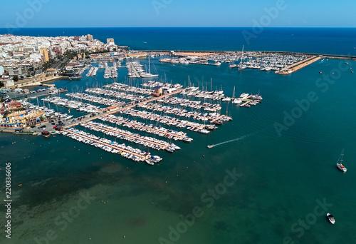 Spoed Foto op Canvas Poort Torrevieja port, aerial view