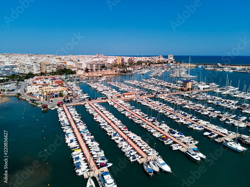 Foto op Canvas Poort Torrevieja port, aerial view