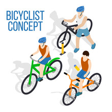 Bicycle Concept Clip Art. Isom...