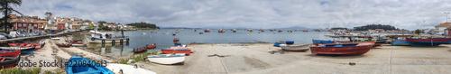 Panoramic view of fishing harbor