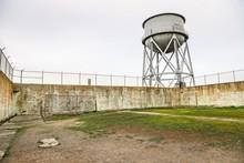 Alcatraz Prison Recreation Yard In San Francisco, California, USA