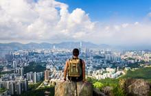 Man Enjoying Hong Kong View Fr...