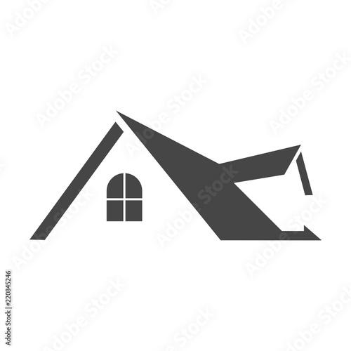 Valokuvatapetti Real estate symbol, Roof icon
