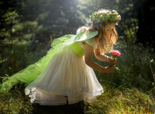 Little Girl Dressed As A Fairy.