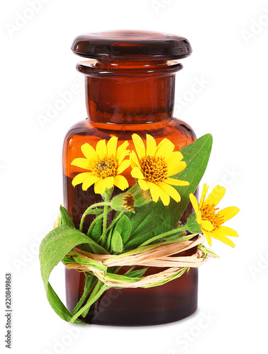 Photo Arnica, old pharmacists bottle