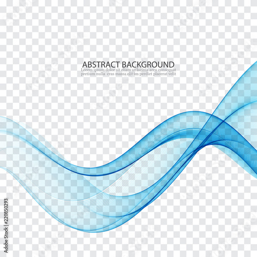 Staande foto Abstract wave Abstract color wave design element. Blue wave.