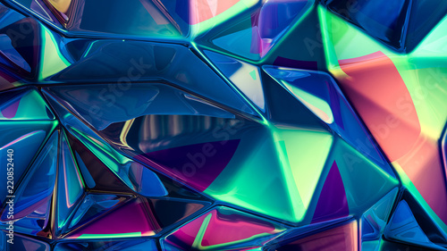 Fototapeta  Stylish multi-color crystal background