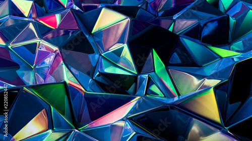 Stylish multi-color crystal background Fototapete