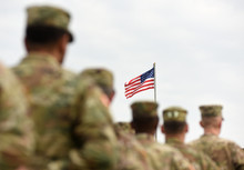 American Soldiers And US Flag....