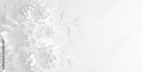 Obraz kwiaty   papierowe-kwiaty-ilustracja-3d-renderowanie-3d