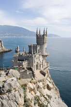 Swallow's Nest Palace Towering On A Cliff By The Sea