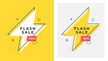 Trendy Vector Flash Sale Banne...