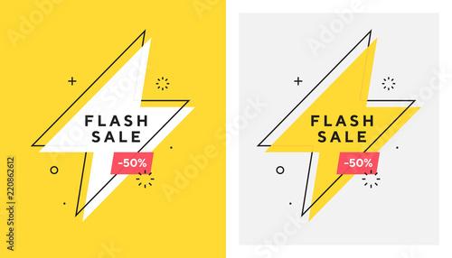 Fotografía  Trendy vector flash sale banne
