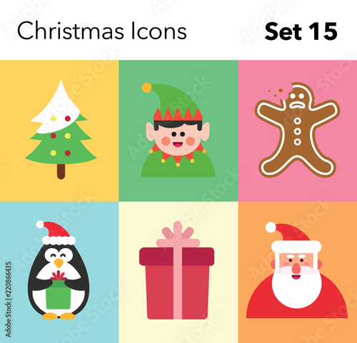Recess Fitting Illustrations Christmas Icon – Set 15