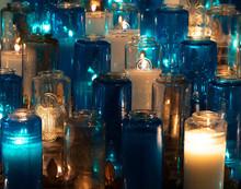 Blue And White Religious Votiv...