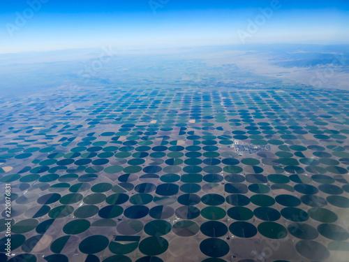 Fotografía  Circular crops from center pivot irrigation systems