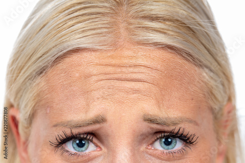 Fotografering  forehead frowned blond hair