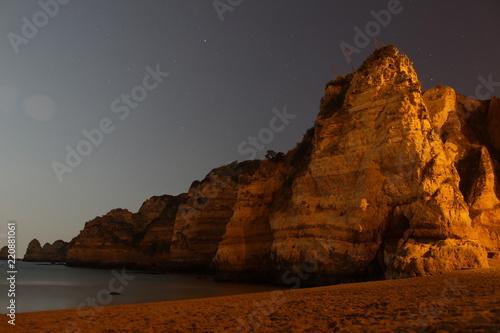 La pose en embrasure Algérie Nachthimmel am Meer