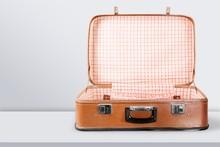 Empty Vintage Suitcase Open Is...
