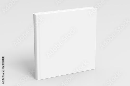 square blank book cover mockup Fototapet