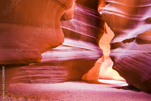 Deurstickers Baksteen Beautiful of sandstone formations in upper Antelope Canyon, Page, Arizona, USA