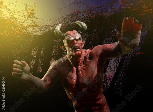 Obraz na płótnie Angry Demon - Stay Away!