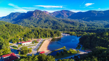 Drone View Of Lake Lure, North Carolina, USA