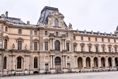 Fotografie, Obraz  Exterior of louvre museum