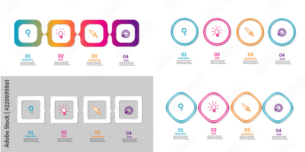 Fototapety, obrazy: Modern infographic timeline element template vector