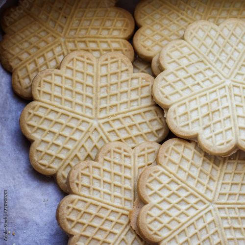 Fotografie, Obraz  Delicious shortbread cookie in the shape of a flower