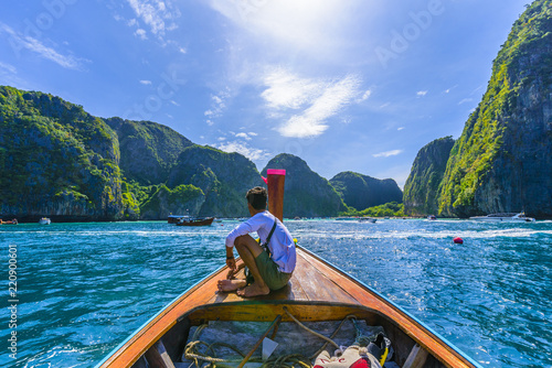 Maya bay at Phi Phi Leh island, Thailand Wallpaper Mural