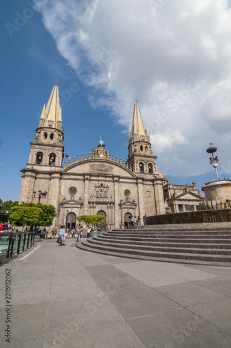 Foto  cathedral in historical center, Guadalajara Jalisco. MEXICO