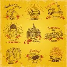 Thailand Journey Labels Set