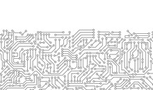 White Circuit Board Pattern Te...