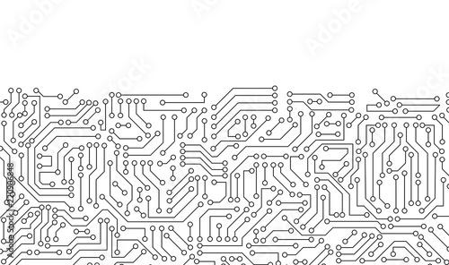 Stampa su Tela White circuit board pattern texture
