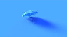 Blue Umbrella 3d Illustration