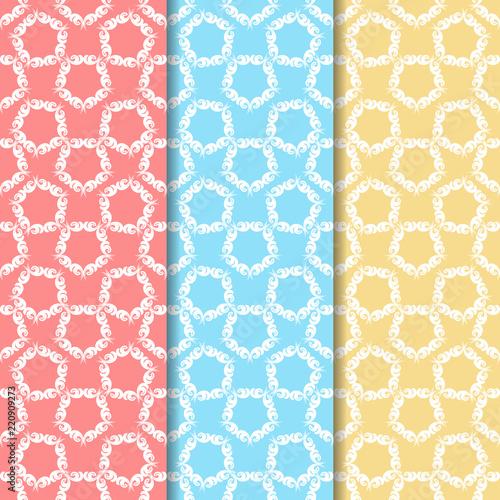 In de dag Kunstmatig seamless floral pattern with leaves