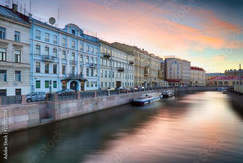 Deurstickers Centraal Europa Embankment of the Moyka River in Saint Petersburg, Russia