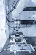 robotic machine tool in industrial manufacture plant,Smart factory industry 4.0 concept