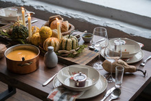 Autumn Table Setting With Pump...