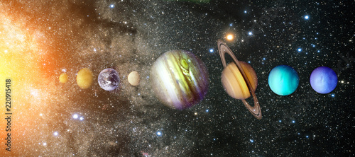 Canvas Print Planets of the solar system