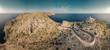 Panorama von einem Leuchtturm auf Mallorca im Norden / Cap Formentor