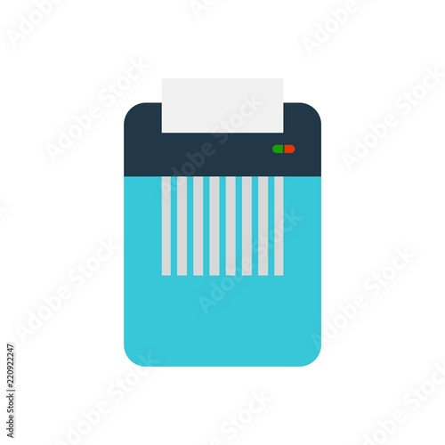 Fotografie, Tablou  Icon of paper Shredder, Flat style