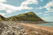 Jurassic Coast Of Dorset, England In The Summertime.