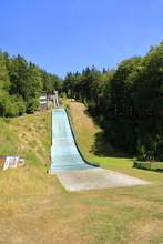 Skisprunganlage Auf Dem Wurmberg Im Harz Bei Goslar Im Sommer Bei Sonnenschein