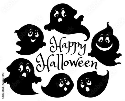 Foto op Canvas Voor kinderen Happy Halloween composition image 6