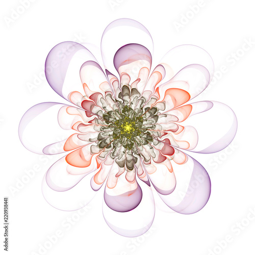 Fotografie, Obraz  Abstract fractal beautiful flower computer-generated image