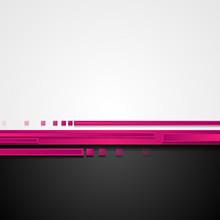Pink And Black Hi-tech Abstrac...