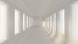 Industrial futuristic grunge interior. 3d illustration, 3d rendering.