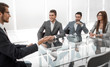 businessman and business team discuss working issues at the working meeting